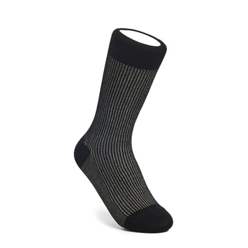 Two-Tone Ribbed - Black/Gold - Votta Socks