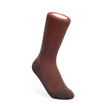 Two-Tone Ribbed - Gray/Orange - Votta Socks