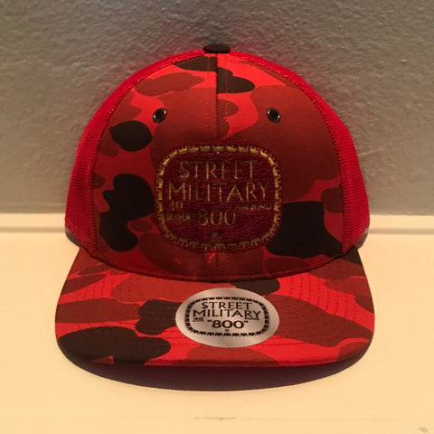 RED CAMOUFLAGE TRUCKER SNAPBACKS