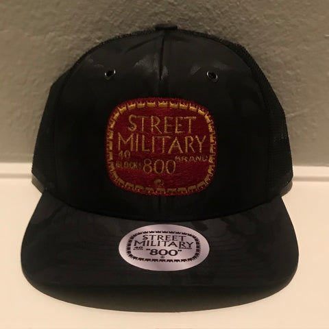 BLACK CAMOUFLAGE TRUCKER SNAPBACKS