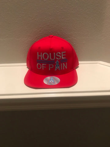 HOUSE OF PAIN RED SNAPBACK CAPS