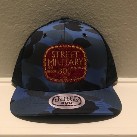 BLUE CAMOUFLAGE TRUCKER SNAPBACKS