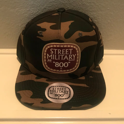 CAMOUFLAGE STREET MILITARY SNAPBACK CAPS