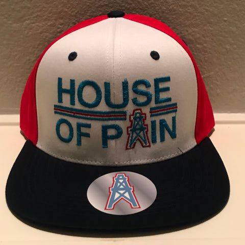HOUSE OF PAIN RED/WHITE/BLUE SNAPBACKS