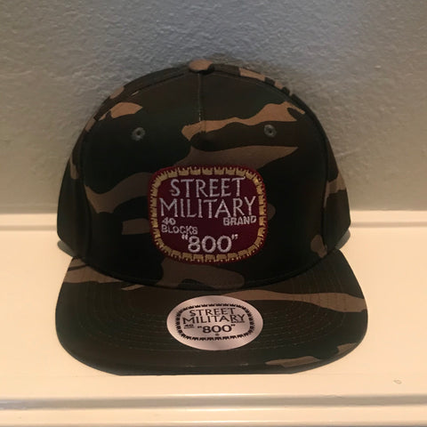 "CAMOUFLAGE ""E"" STREET MILITARY SNAPBACK CAPS"