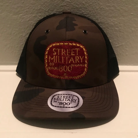 BROWN CAMOUFLAGE TRUCKER SNAPBACKS