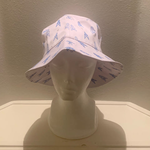 WHITE OILERS BUCKET HATS