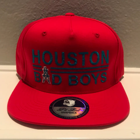 HOUSTON BAD BOYS RED SNAPBACK CAPS