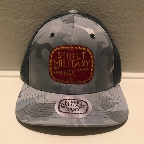 GRAY CAMOUFLAGE TRUCKER SNAPBACKS