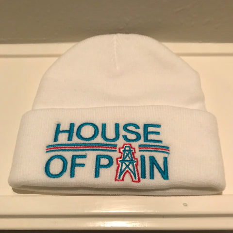 HOUSE OF PAIN WHITE BEANIES