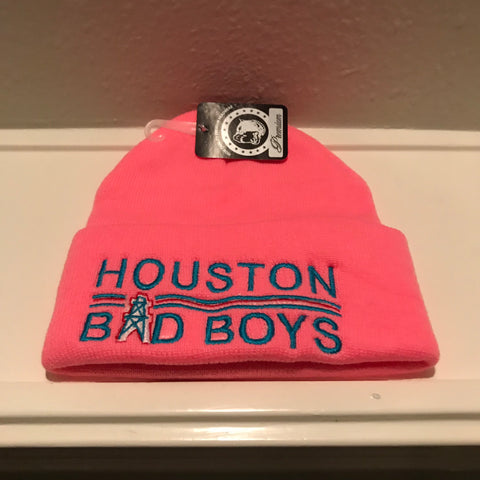 HOUSTON BAD BOYS PINK BEANIES
