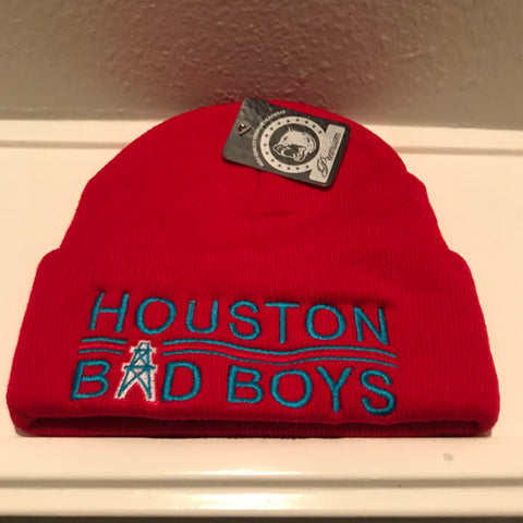 HOUSTON BAD BOYS RED BEANIES