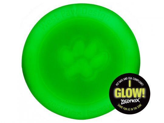 glow in the dark dog frisbee