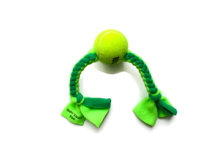 upcycled tennis ball toy