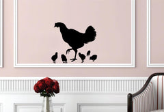 Hen and Chicks Wall Decals
