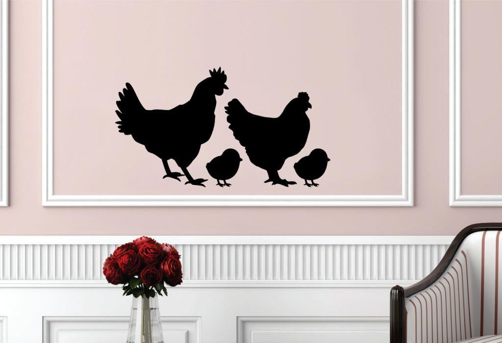 Chicken Family Wall Decals