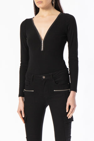 """Zip it Down""Bodysuit"