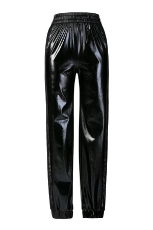 """Double Mesh"" Wet Black Sweatpants"