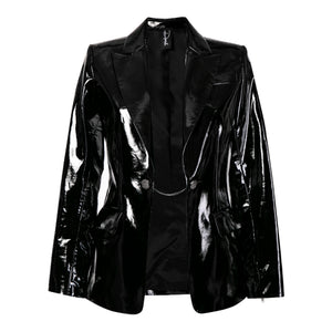00's Futuristic Vinyl Tailored Blazer
