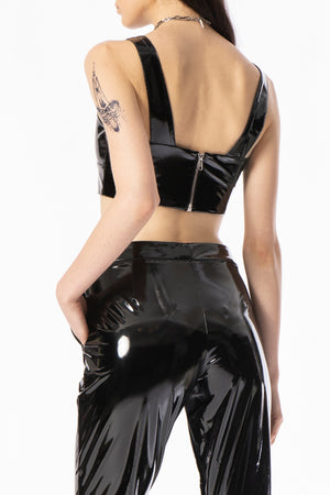 00's Futuristic Vinyl  Tailored Bralette