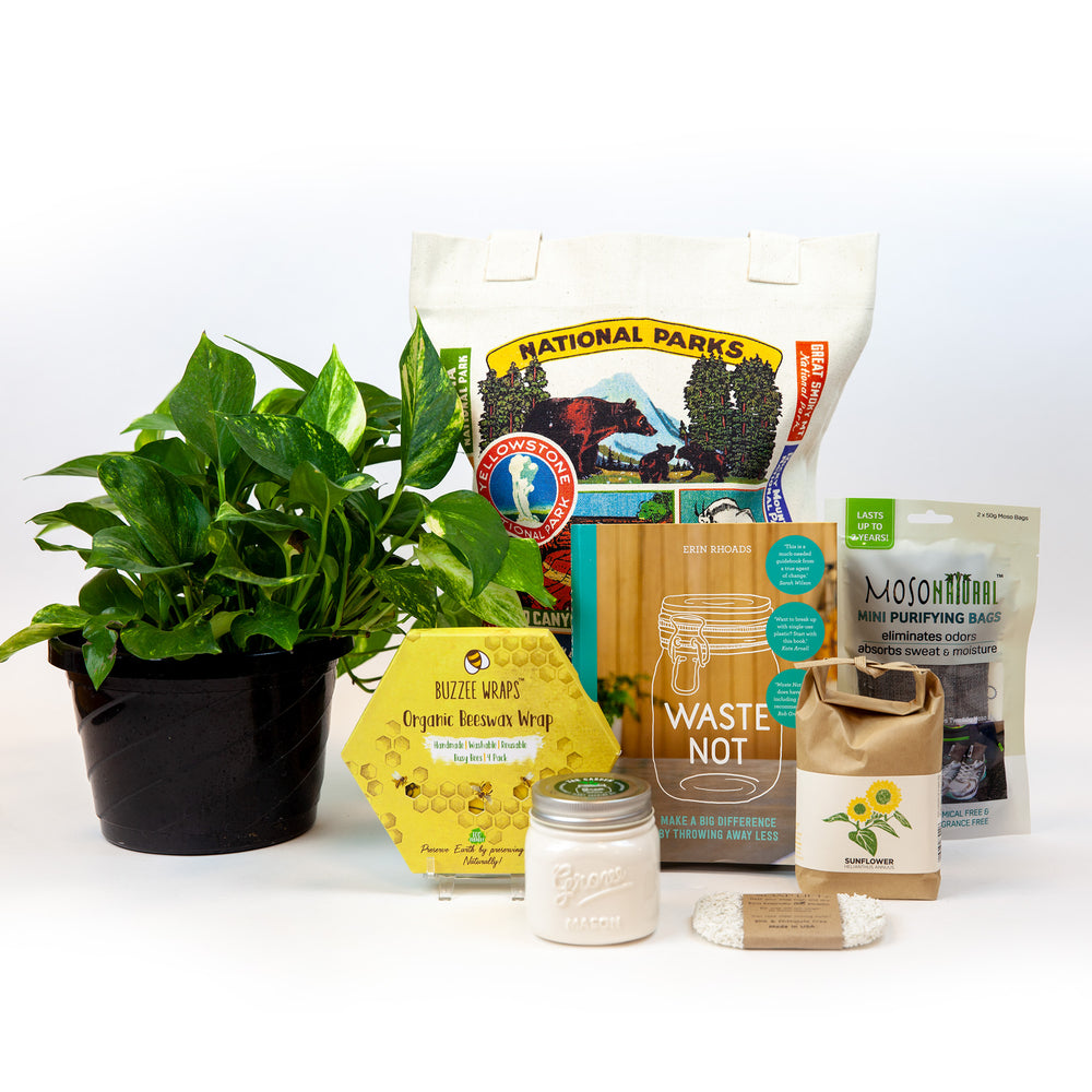 Sustainability gift guide group product photo.