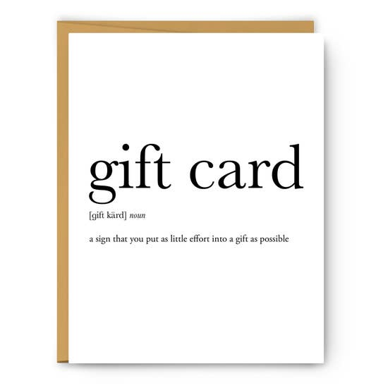Gift Card Greeting Card