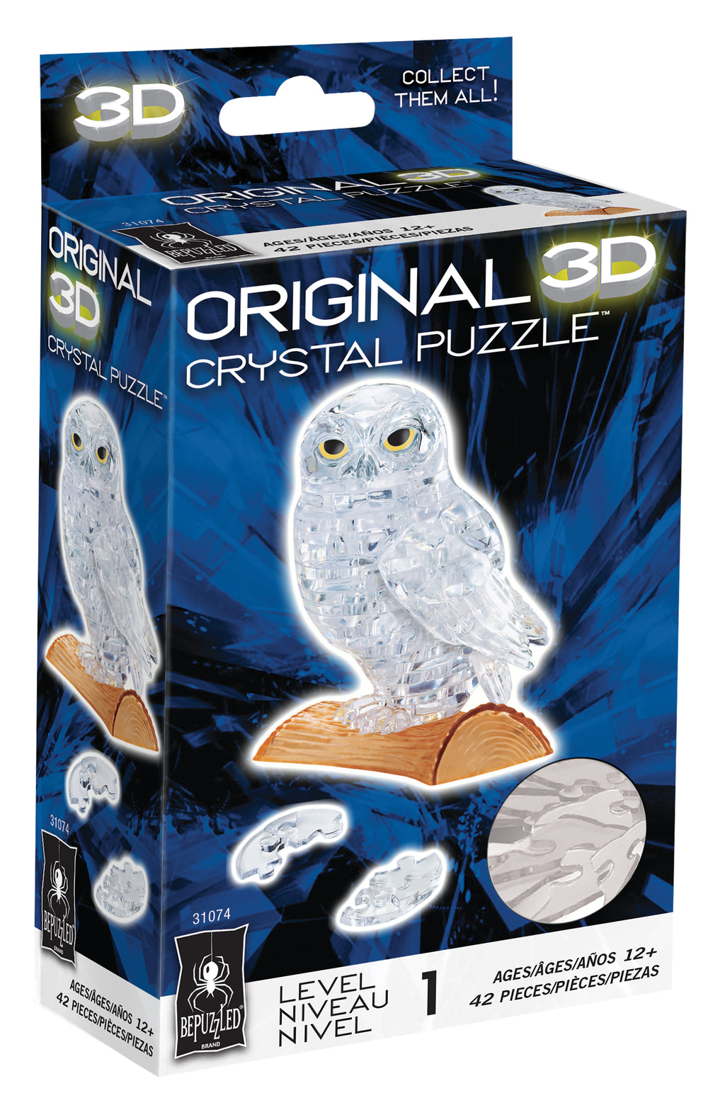 Owl 3D Crystal Puzzle