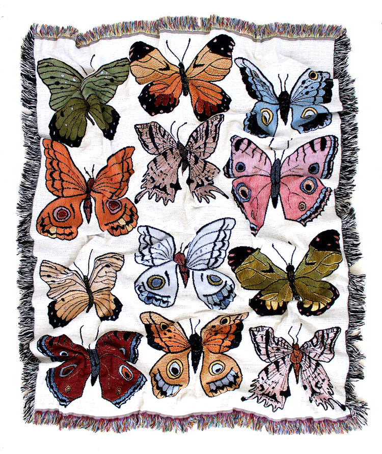 Butterfly & Moth Tapestry Blanket