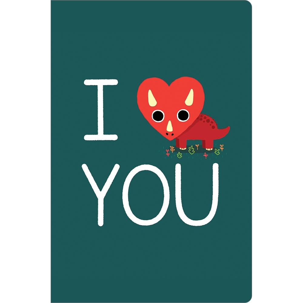 Triceratops Love Greeting Card