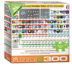 Illustrated Periodic Table of the Elements 300 Puzzle