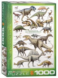Dinosaurs of the Cretaceous 1000 Puzzle