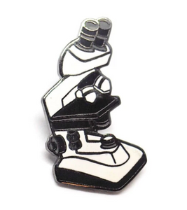 Microscope Enamel Pin