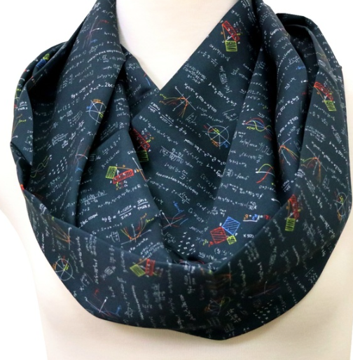 Black Mathematics Infinity Scarf
