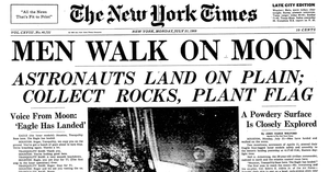 New York Times: Men Walk on the Moon Replica Newspaper