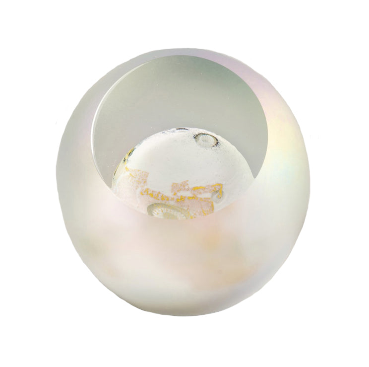 Moon Glass Paperweight