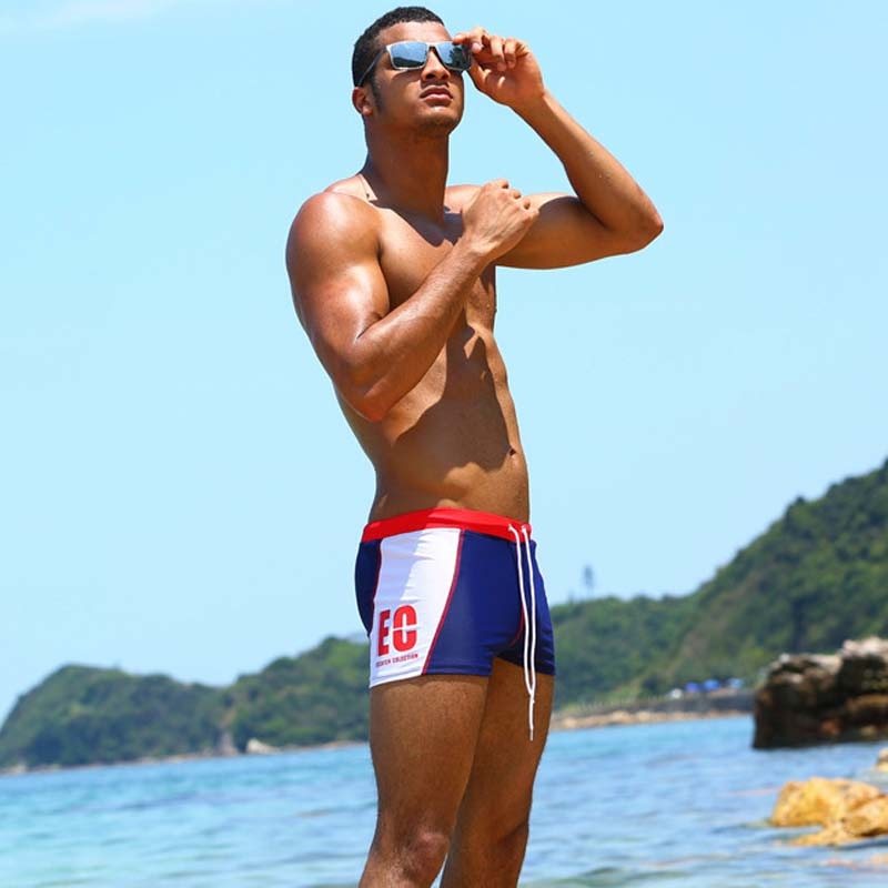 ef4e2ac922 Load image into Gallery viewer, Mens swimsuit, boxer swim short bathing suit  (2 ...
