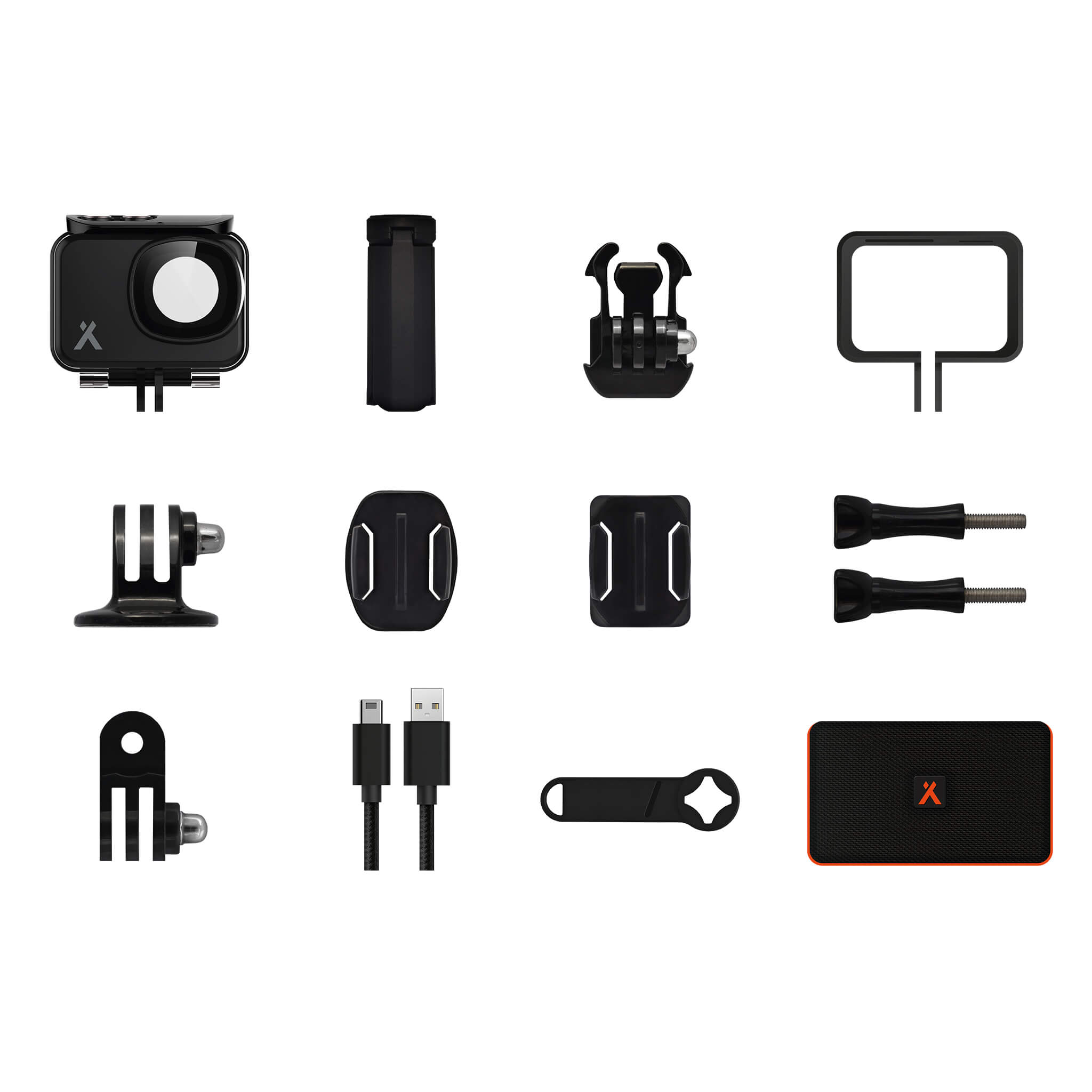 Many accessories come included with the Bear Grylls HD Action Camera
