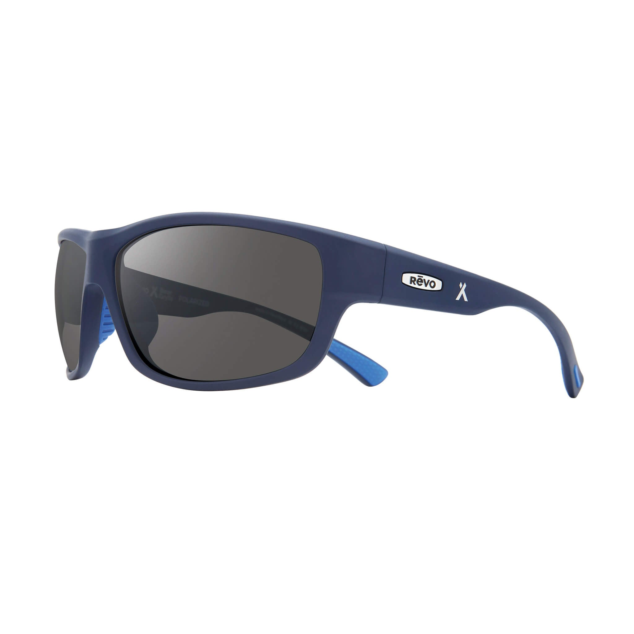 Blue + graphite lens:Side view of Bear Grylls Revo Caper Sunglasses