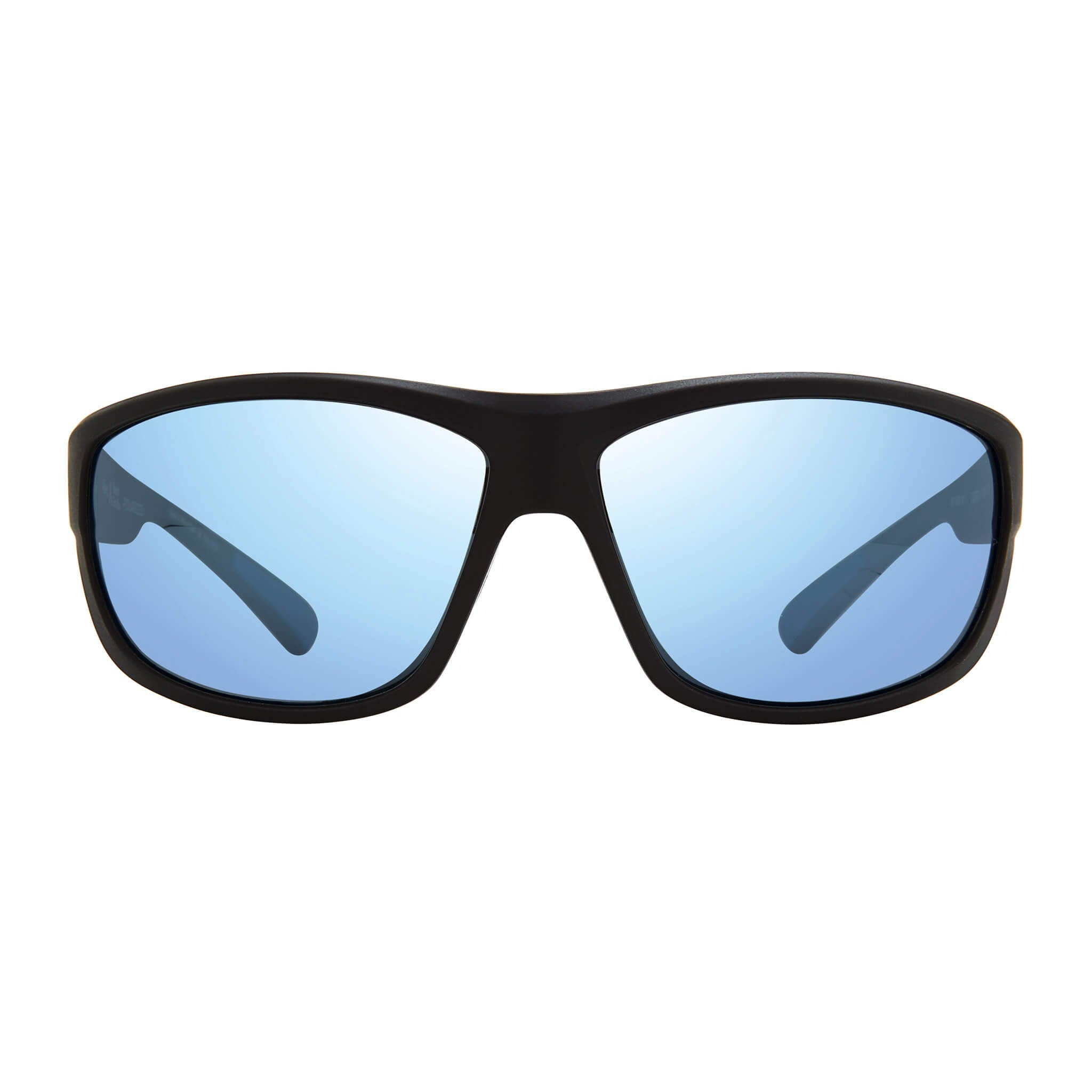 Matte black + blue water lens:Front view of Bear Grylls Revo Caper Sunglasses