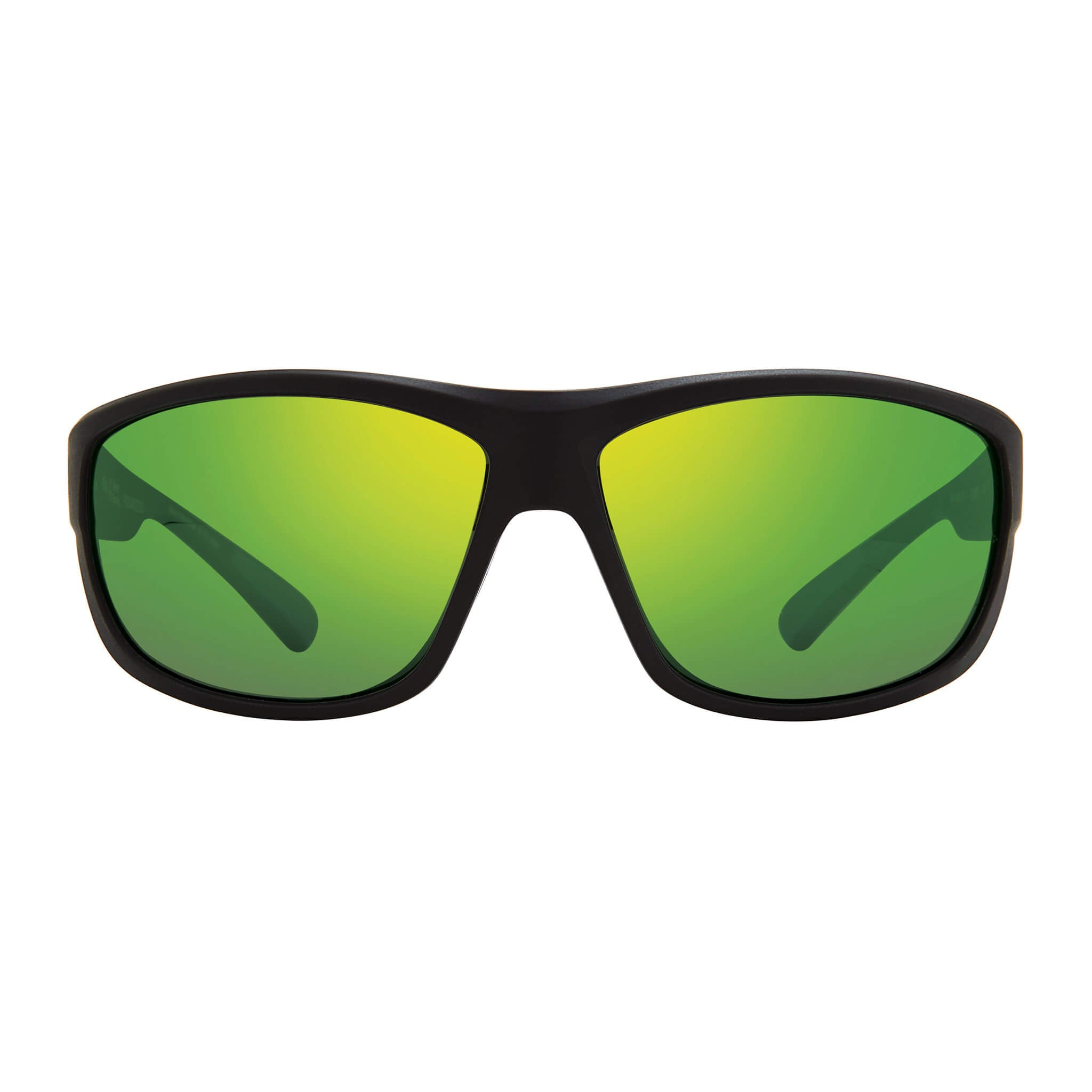 Matte black + green water lens:Front view of Bear Grylls Revo Caper Sunglasses