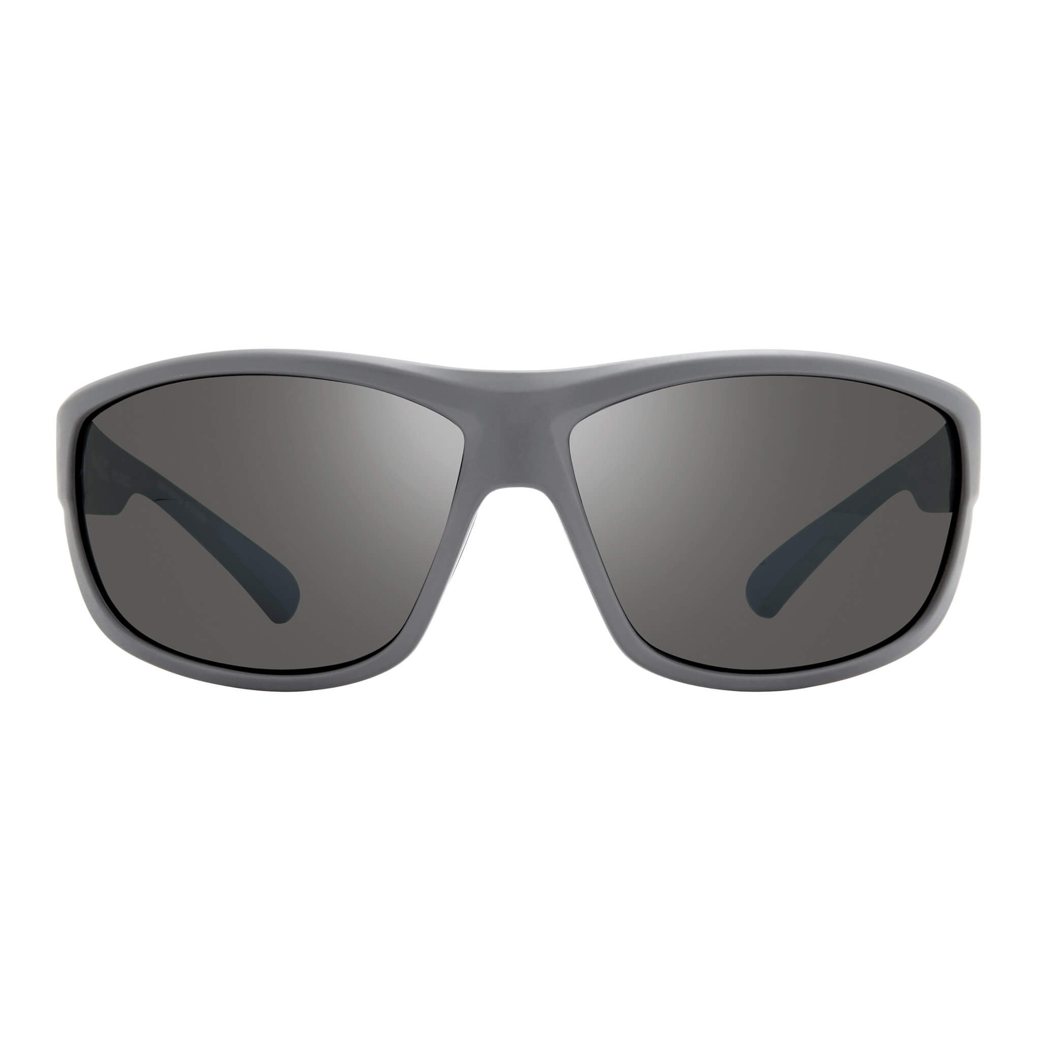 Matte light grey + graphite lens:Front view of Bear Grylls Revo Caper Sunglasses