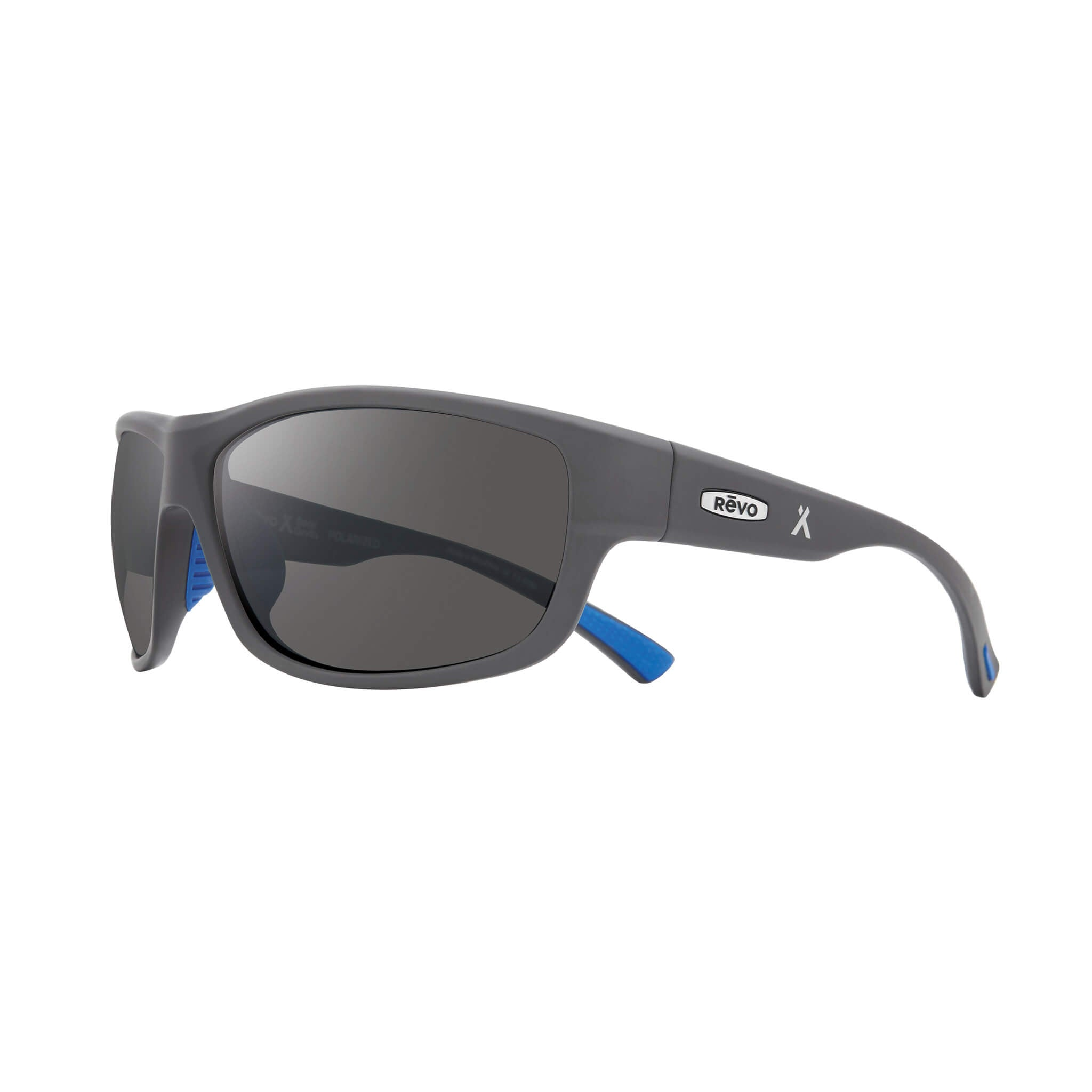 Matte light grey + graphite lens:Side view of Bear Grylls Revo Caper Sunglasses