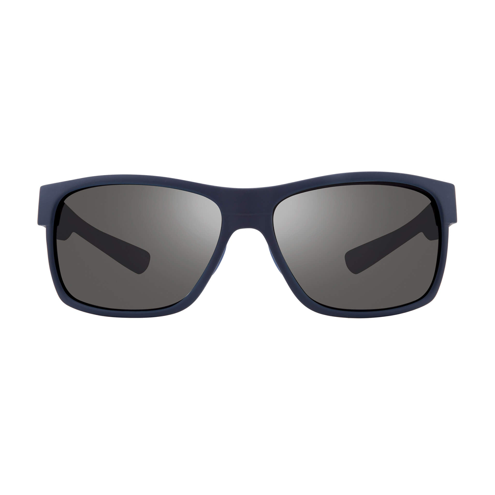 Espen Matte blue + graphite lens:Front view of Bear Grylls Revo Matte Blue with Graphite lens sunglasses