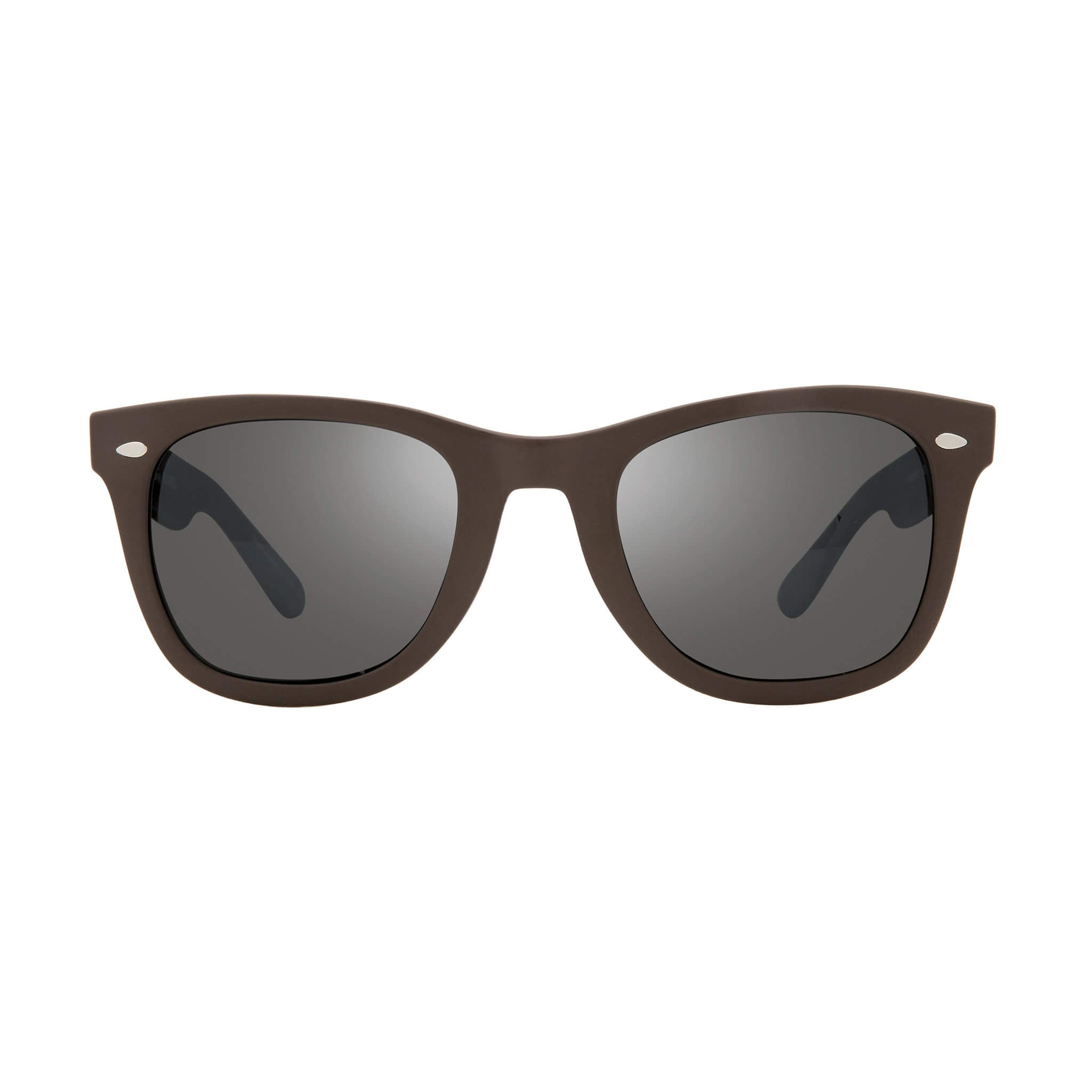 Forge Matte brown + graphite lens:Front view of Bear Grylls Revo Brown with Graphite lens sunglasses