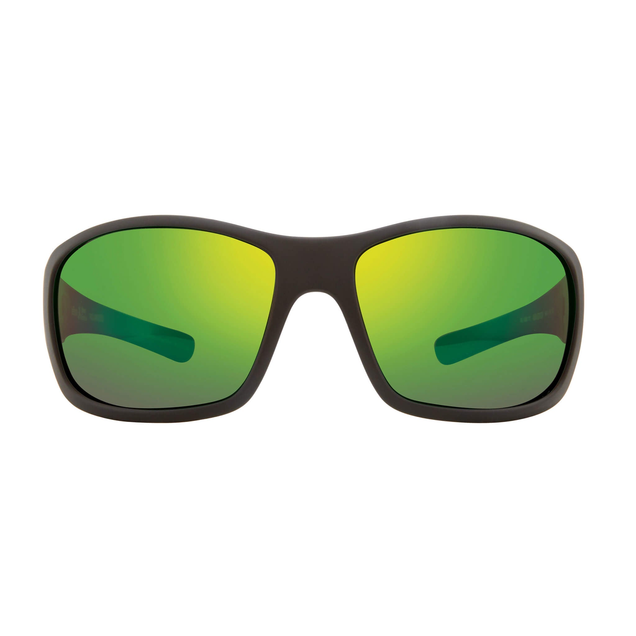 Maverick Matte black + green water lens:Front view of Bear Grylls Revo Black with Green Water lens sunglasses