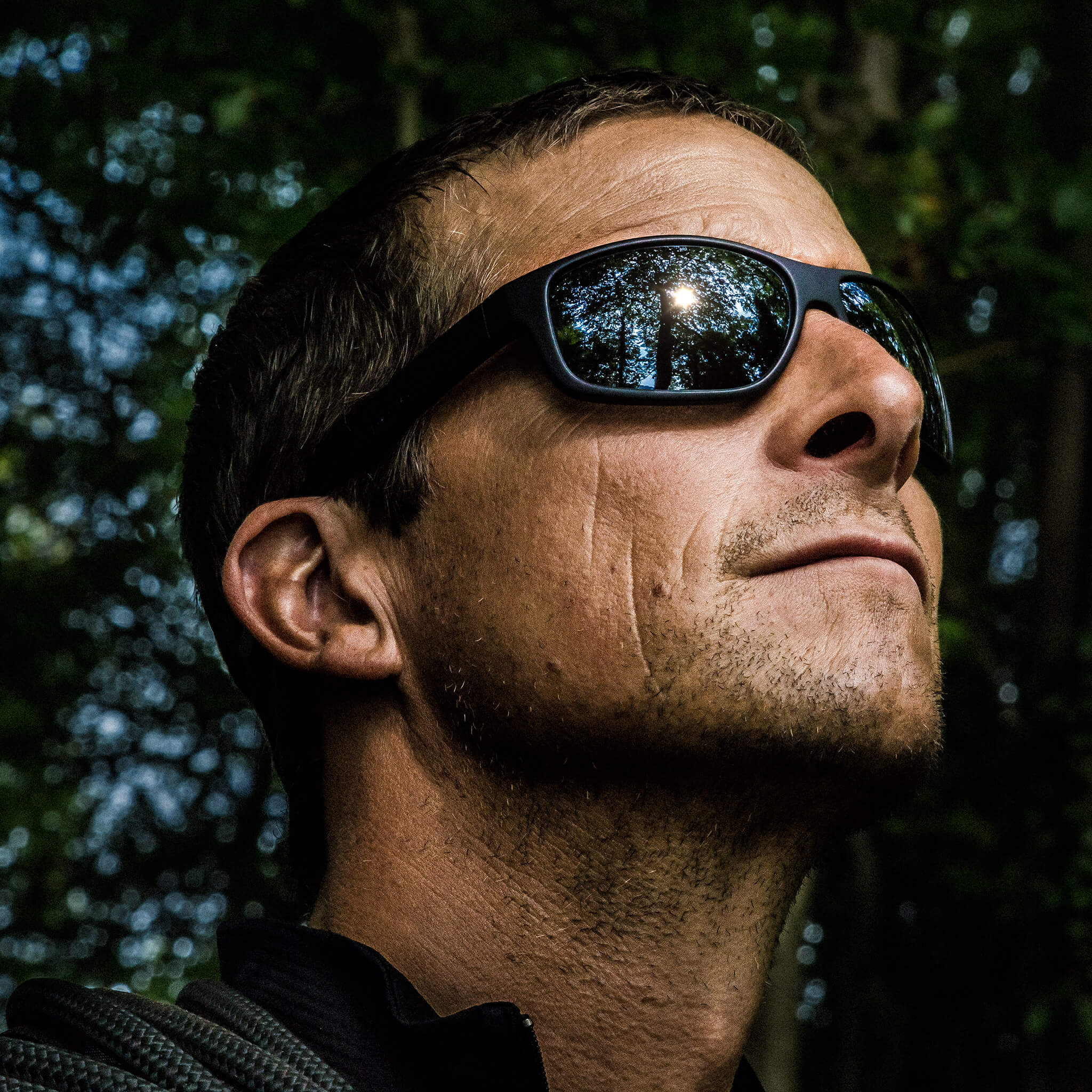 Bear Grylls wearing his Revo Maverick Sunglasses