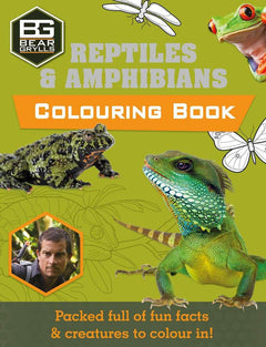 Reptiles and Amphibians Colouring Book