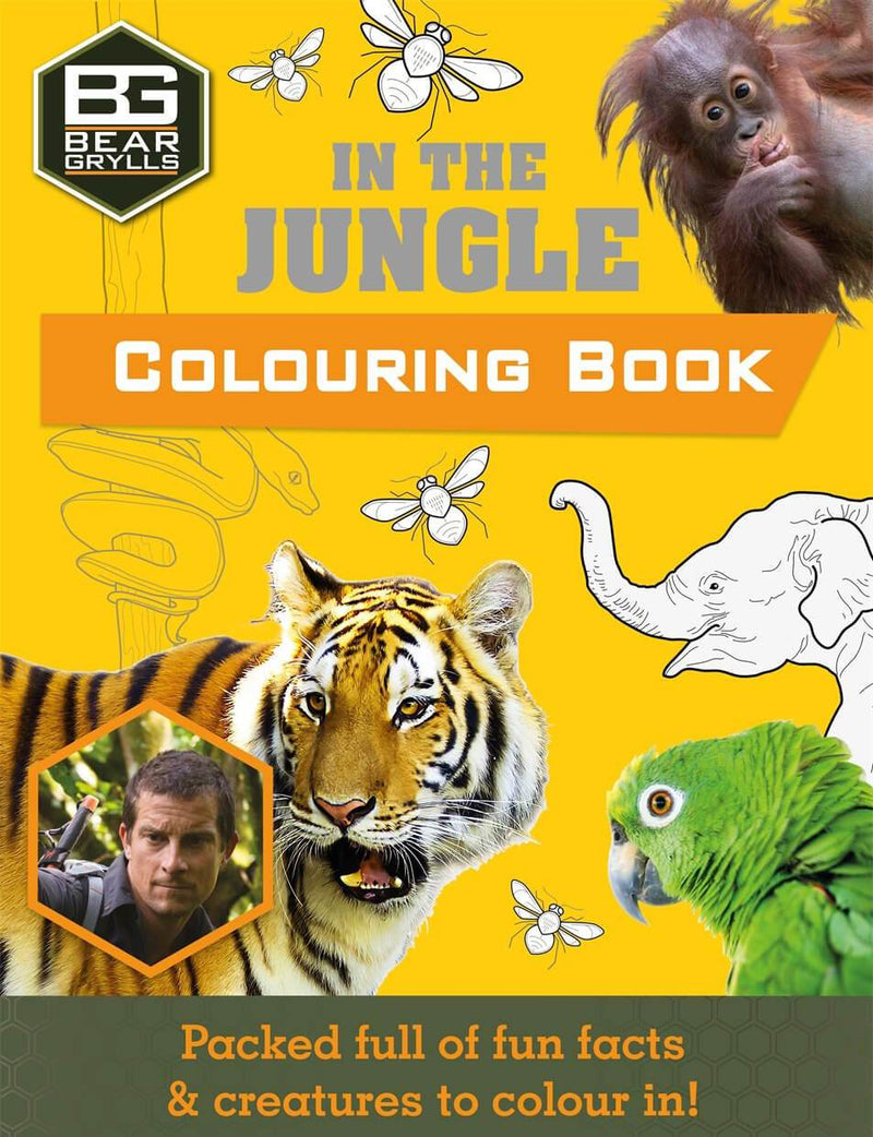 Bear Grylls In the Jungle Colouring Book Paperback Book