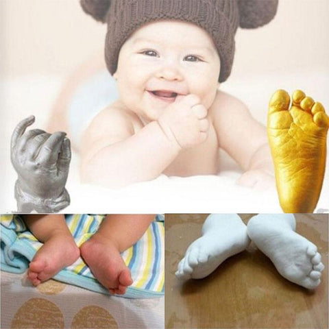 3D Plaster Baby Hand & Foot Casting