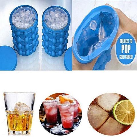 Genie Ice Cube Maker Silicone - Space Saving